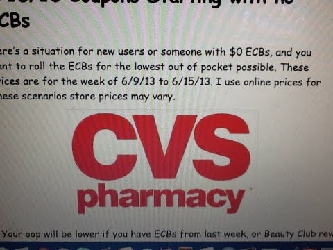 CVS Shopping Scenario 6/9/13 to 6/15/13 Coupons Starting with no ECBs