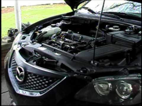 Замена свечей и катушки зажигания Mazda 3, видео!