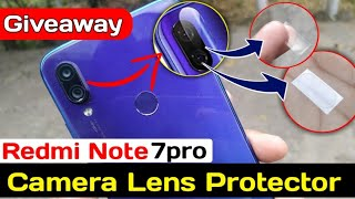 Redmi Note 7 Pro Camera Lens Protector Giveaway,  Mi official Camera lens Guard
