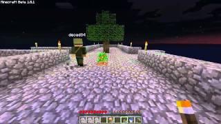 Minecraft - SkyBlock Survival #04 - Początki hodowli zboża, miejsce na drzewa, zmiany