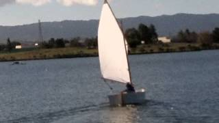 First sail, 10 ft dinghy