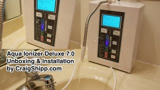 Aqua Ionizer Deluxe 7 0 Water Ionizer unboxing and setup