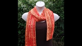 CROCHET How to #Crochet Side Puff Stitch Scarf Wrap #TUTORIAL #258 LEARN CROCHET