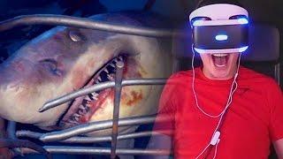 """SHARK ATTACK! - Playstation VR """"Shark Encounter"""" Gameplay"""