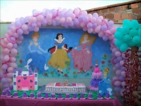Decoração de festa de aniversário- Princesas