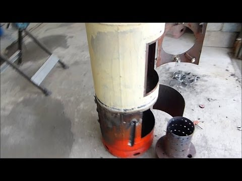 Make a great waste oil and wood burning stove heater (part 5)