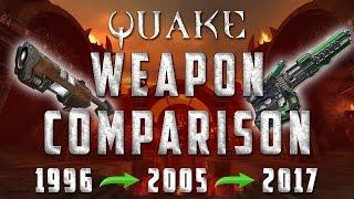 Quake Weapon Evolution (1996-2017)