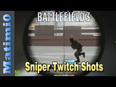 Sniper Twitch Shots - Aggressive Recon Practice (Battlefield 3 Gameplay/Commentary)
