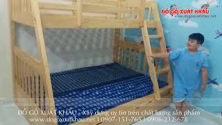 Giường tầng gỗ giá rẻ tại TPHCM - Giường tầng rẻ và đẹp HAPPY