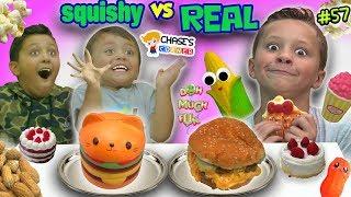 SQUISHY FOOD vs REAL FOOD Challenge! Chase