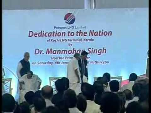 PM Manmohan Singh dedicates to Nation Petronet LNG Terminal; puts Kochi on the world LNG map