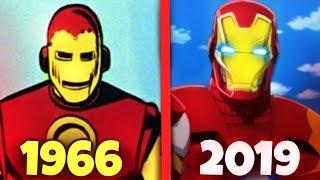 Toda EVOLUÇÃO do Homem de Ferro nas Animações!