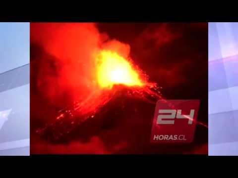 Erupci�n Volcan Villarrica en Chile - 3 de Marzo 2015