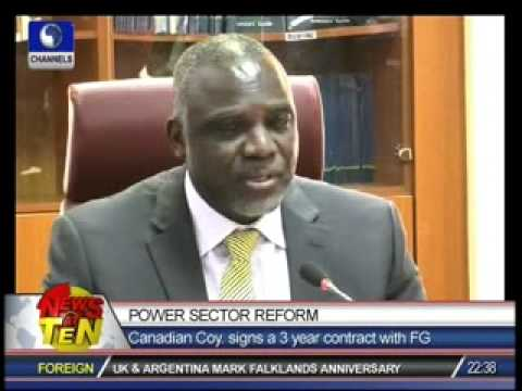Power Sector Reform:Canadian company signs a 3-year contract with FG