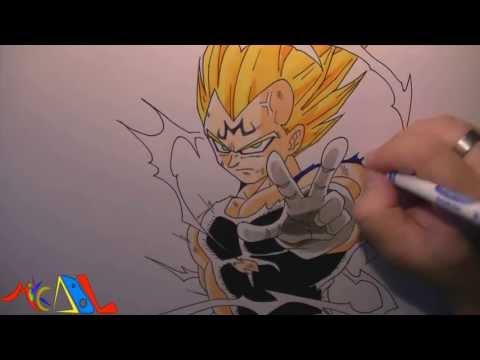Dibujando a: Vegeta Majin