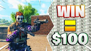 CoD BLACKOUT | $100 FOR THE WiN CHALLENGE!! ONE TRY ONLY!!! (HiGH KiLL SOLO)