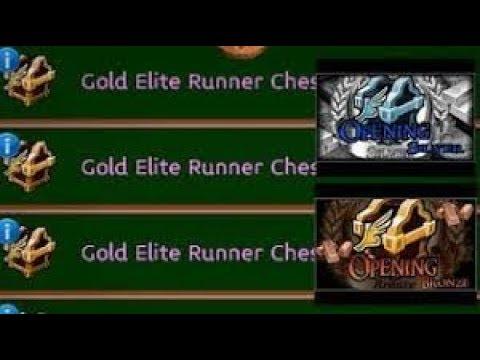 Arcane legends | 100 GOLD ELITE RUNNER CHEST OPENING