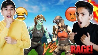 I Made My Brother RAGE QUIT After I Destroyed Him In A Fortnite 1v1!