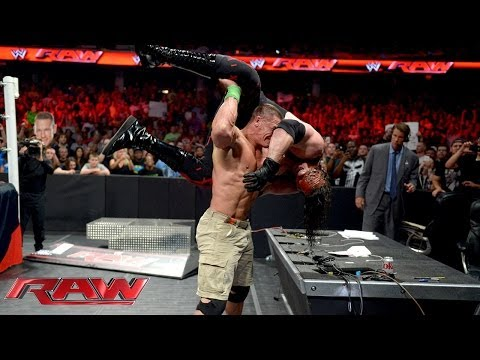 John Cena Vs. Kane - Stretcher Match: Raw, June 17, 2014 video
