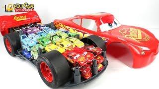Learning Color Big Size Disney Pixar Cars Lightning McQueen Car Carrier Mack Truck For Kids Car Toys