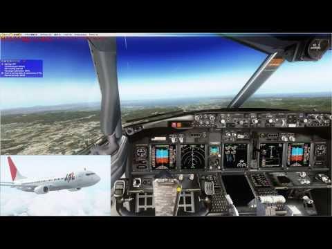 【機内アナウンス入】フライトシミュレーターXでエアラインパイロット風に飛行 part1【伊丹→羽田】