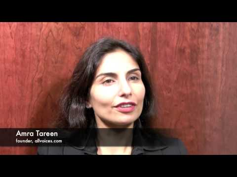 Amra Tareen, founder & CEO of allvoices.com