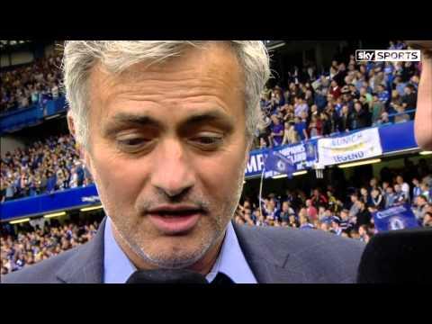Che 3-1 Sun, 24/5/15 Jose Mourinho with Gary Neville 14/15 Chelsea Champions