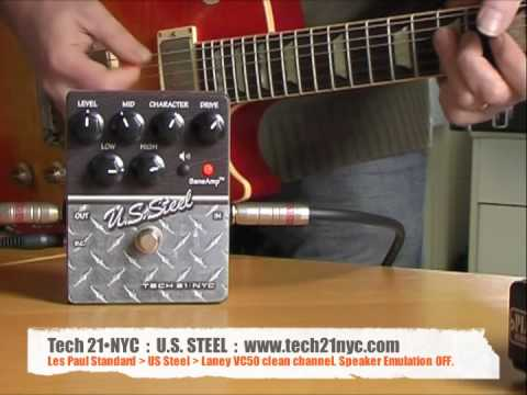 Tech 21•NYC: US Steel - Les Paul to amp (normal input)