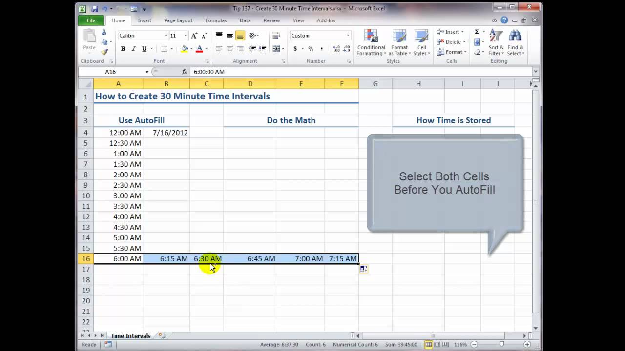 how to decide time in excel