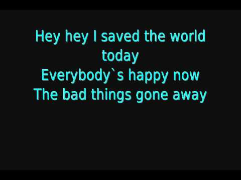 Eurythmics - SAVED THE WORLD TODAY