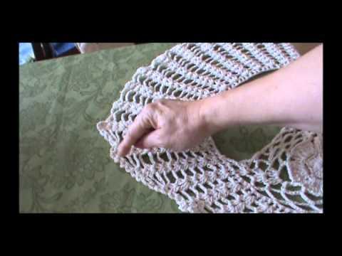 Colete Feminino em Crochê com Barbante de Algodão Cru Conclusão.wmv