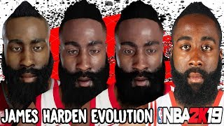 James Harden Ratings and Face Evolution (College Hoops 2K8 - NBA 2K19)