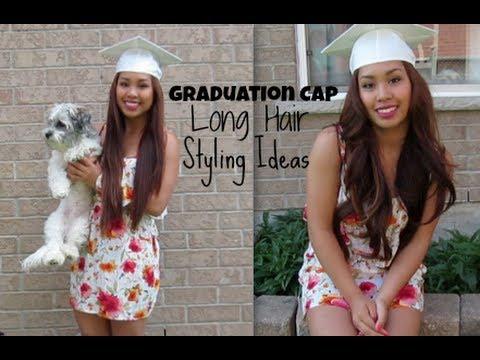 graduation cap long hair style ideas  itsnellylospe