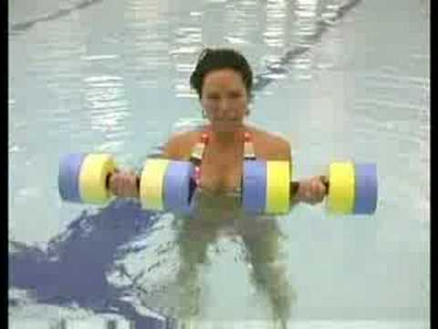 Water aerobics exercises water aerobics triceps curls - Swimming pool exercises to lose weight ...