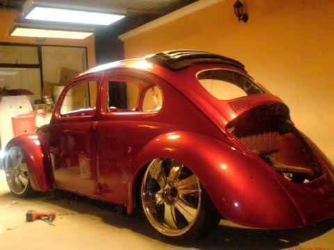 VW BUG. .68,VOCHO,FUSCA CANDY APPLE RED