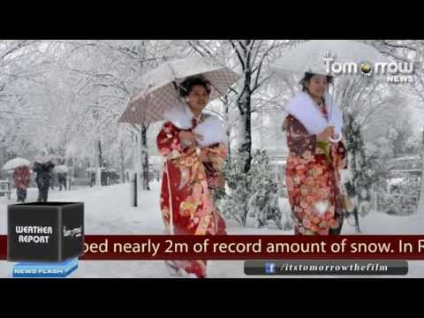 Record Breaking Snowfall in Northern Japan