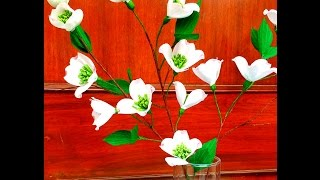 How to make Paper Flower Cornus / Dogwood (Flower # 78)