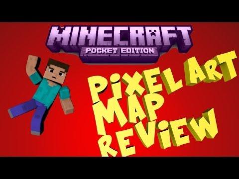 Minecraft PE Pixel Art Map Review [DOWNLOAD]