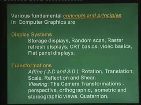 Lecture - 1 Introduction to computer graphics