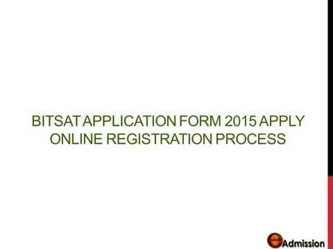 application bitspilani for form