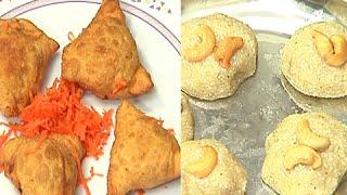 How to Make Meal Maker Samosas and Semiya Saggubiyam Laddu