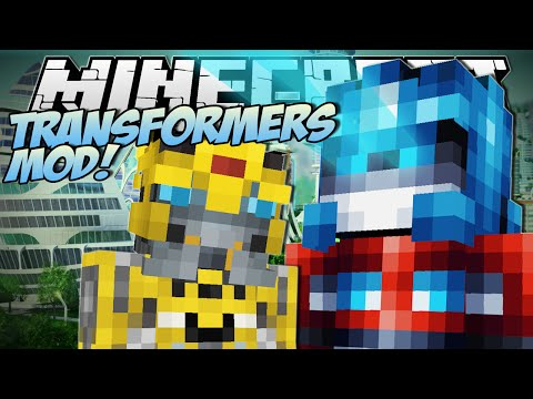 Minecraft | Transformers Mod! (robot Tanks, Planes And Cars!) | Mod Showcase video