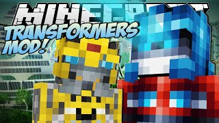 Minecraft   TRANSFORMERS MOD! (Robot Tanks, Planes and Cars!)   Mod Showcase