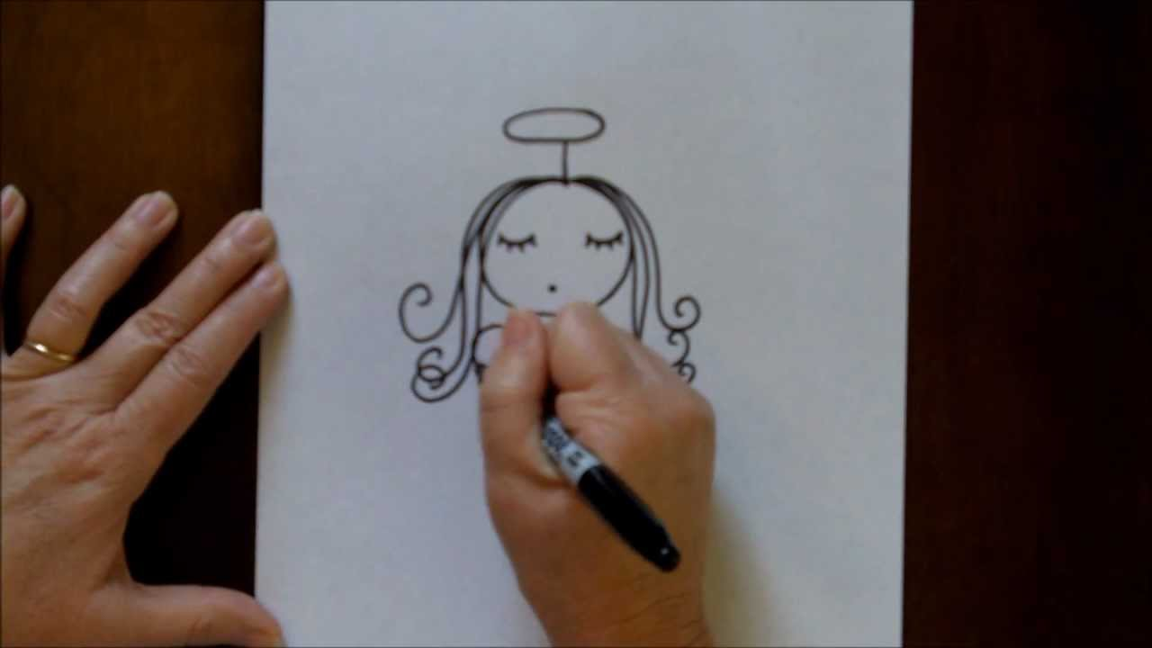 Angel Drawing Tutorial Draw an Angel Step-by-step
