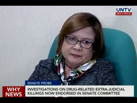 Investigations on drug-related extrajudicial killings now endorsed in Senate committee
