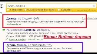Блоки Яндекс директ. Что такое рекламные блоки Яндекс директ