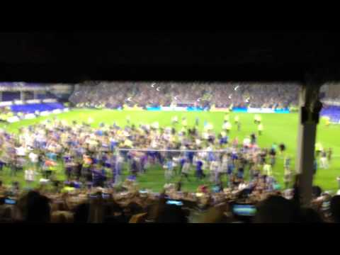 Hibbo scored. We rioted. ( 8/8/12 Everton V AEK Athens )