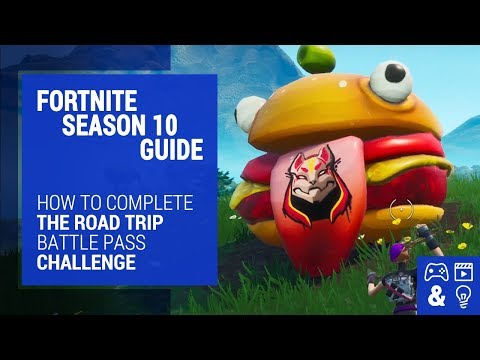 Fortnite Season Road Trip Challenge Guide - Durr Burger, Dinosaur & Stone Head Statue Locations