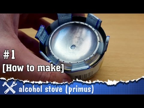 DIY alcohol stove made of soda cans