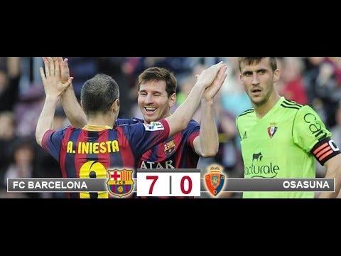 FC Barcelona 7 - Osasuna 0 Liga BBVA Carrusel Deportivo Cadena Ser